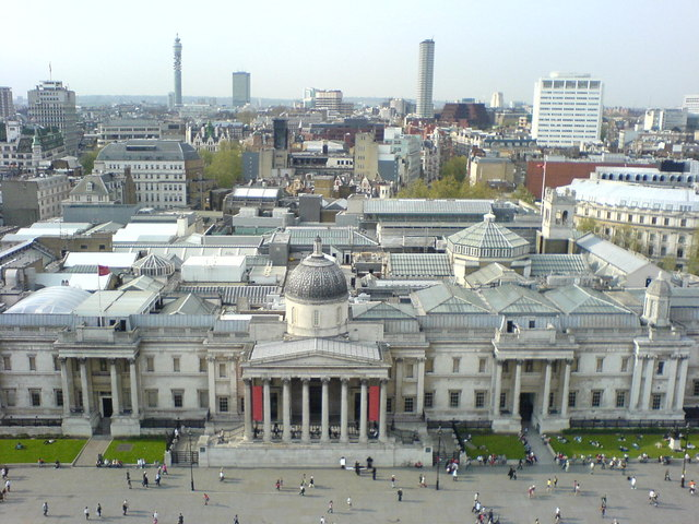 National_Gallery_from_atop_Nelson's_Column,_Trafalgar_Square,_London_-_geograph.org.uk_-_287253